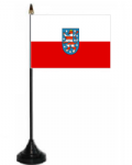 Thuringia Desk / Table Flag with plastic stand and base.